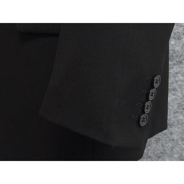 礼服 ダブル 夏物 深黒 ベーシックフォーマルスーツ 6釦1掛 1タック [A体][AB体][BB体] メーカー廃番予定品 PN2277 dxksm466 07