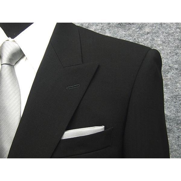 礼服 ダブル 夏物 深黒 ベーシックフォーマルスーツ 6釦1掛 1タック [A体][AB体][BB体] メーカー廃番予定品 PN2277 dxksm466 10