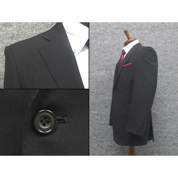 春夏物 2パンツスーツ ベーシック2釦スーツ 黒/無地 [A体][AB体] RG211100A dxksm466 02