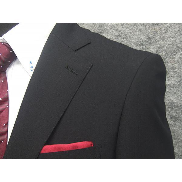 春夏物 2パンツスーツ ベーシック2釦スーツ 黒/無地 [A体][AB体] RG211100A dxksm466 09