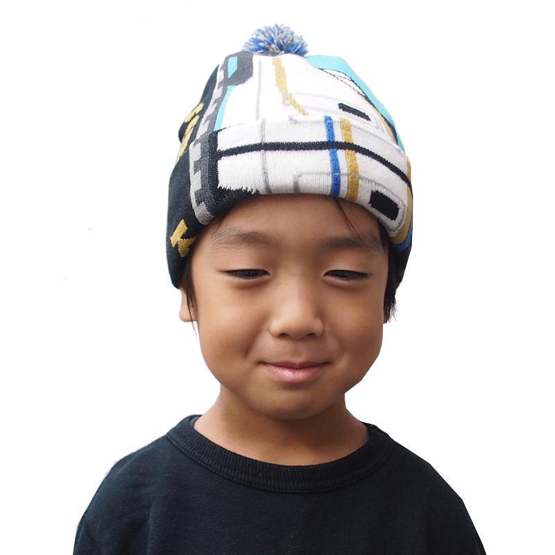 帽子 マフラー キッズ 子供用 鉄マフ帽 新幹線シリーズ [M便 1/1]|dyn|09