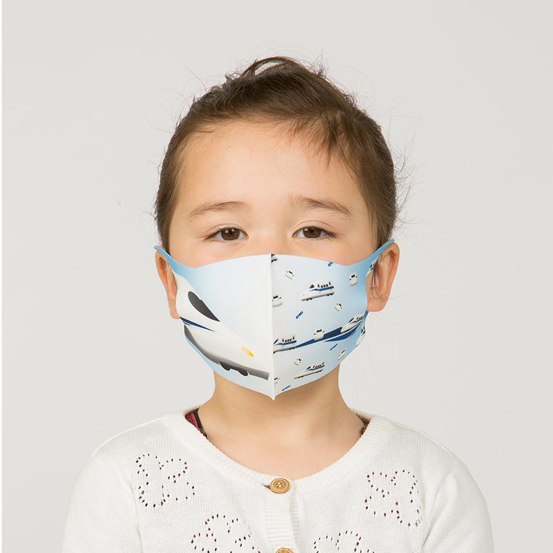 新幹線 電車 マスク 洗える 子供用 抗菌マスク 子供用  1枚入り 鉄マフぼう 鉄道  のぞみ ドクターイエロー こまち はやぶさ|dyn|11