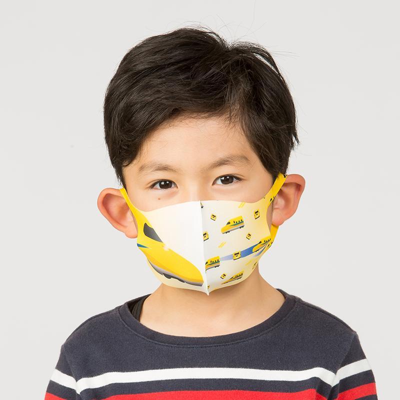 新幹線 電車 マスク 洗える 子供用 抗菌マスク 子供用  1枚入り 鉄マフぼう 鉄道  のぞみ ドクターイエロー こまち はやぶさ|dyn|12
