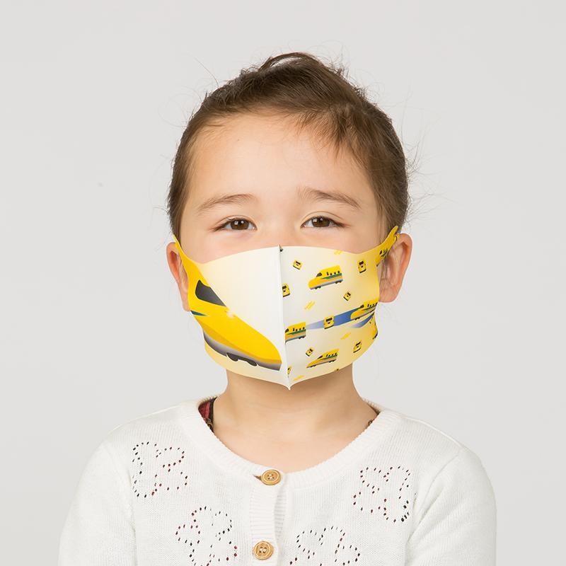 新幹線 電車 マスク 洗える 子供用 抗菌マスク 子供用  1枚入り 鉄マフぼう 鉄道  のぞみ ドクターイエロー こまち はやぶさ|dyn|13
