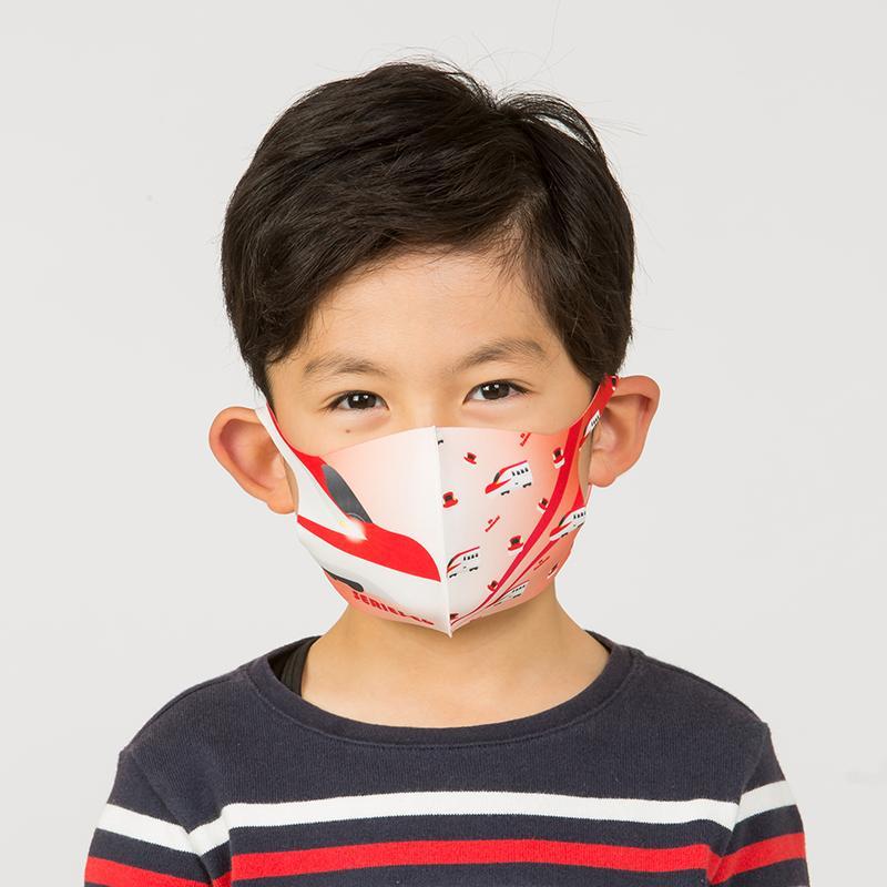 新幹線 電車 マスク 洗える 子供用 抗菌マスク 子供用  1枚入り 鉄マフぼう 鉄道  のぞみ ドクターイエロー こまち はやぶさ|dyn|14