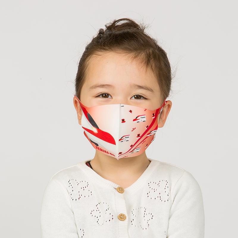新幹線 電車 マスク 洗える 子供用 抗菌マスク 子供用  1枚入り 鉄マフぼう 鉄道  のぞみ ドクターイエロー こまち はやぶさ|dyn|15