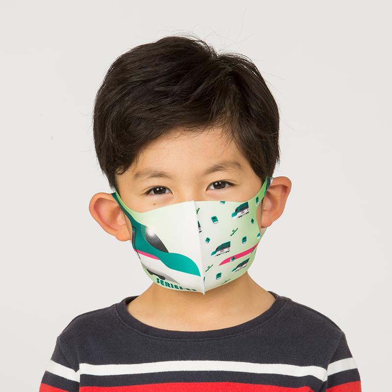 新幹線 電車 マスク 洗える 子供用 抗菌マスク 子供用  1枚入り 鉄マフぼう 鉄道  のぞみ ドクターイエロー こまち はやぶさ|dyn|16