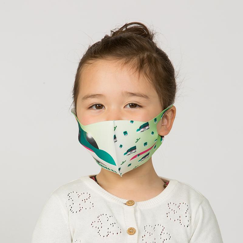 新幹線 電車 マスク 洗える 子供用 抗菌マスク 子供用  1枚入り 鉄マフぼう 鉄道  のぞみ ドクターイエロー こまち はやぶさ|dyn|17