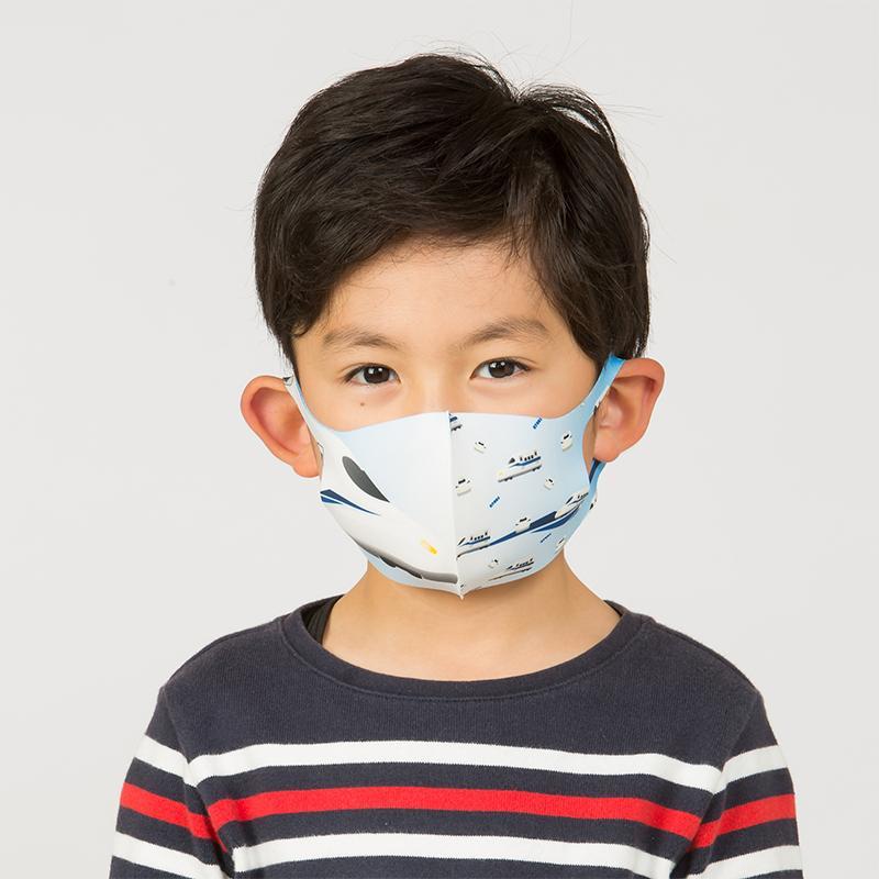 新幹線 電車 マスク 洗える 子供用 抗菌マスク 子供用  1枚入り 鉄マフぼう 鉄道  のぞみ ドクターイエロー こまち はやぶさ|dyn|10