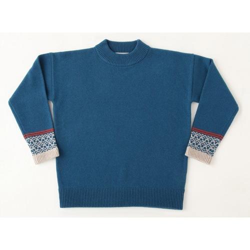 【海外輸入】 ジャカード入りプルオーバー 自然体 ニット セーター AB SHI-ZEN-TAI, awatsu 8e7af013