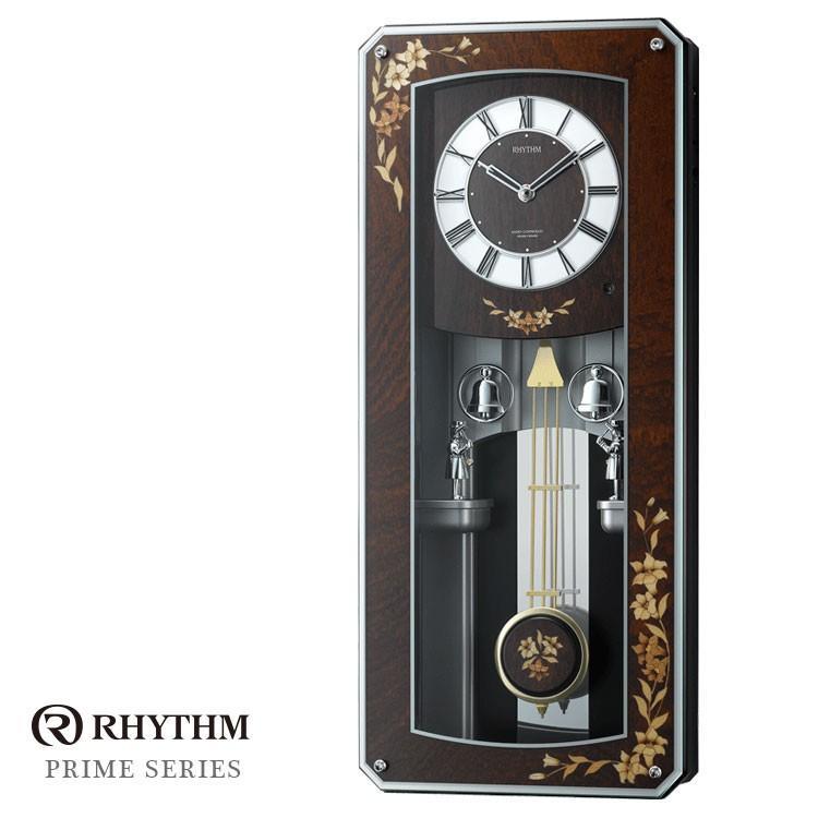 リズム時計 電波時計 からくり時計 掛け時計 プライムメネット 4MN518RH06 お取り寄せ