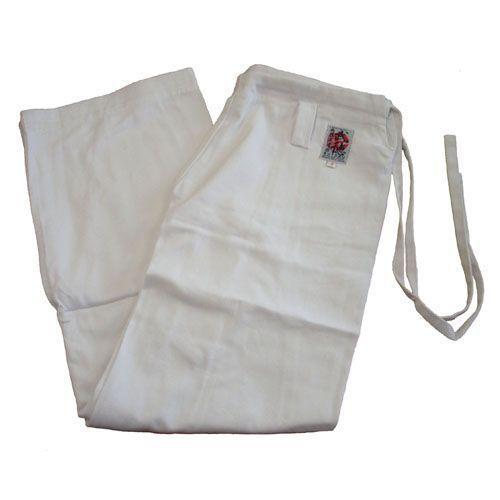 高級 綿100%空手道衣用ズボン 奉呈 サイズ3〜4 送料無料(一部地域を除く) 白