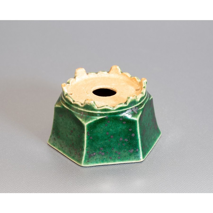 ミニ盆栽鉢 織部釉六角盆栽鉢 國井正子盆栽鉢 小さな鉢 p0318|e-bonsai|03