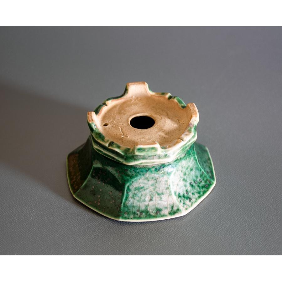 盆栽鉢 織部釉六角盆栽鉢 小品盆栽鉢 小さな盆栽鉢 p0725|e-bonsai|04