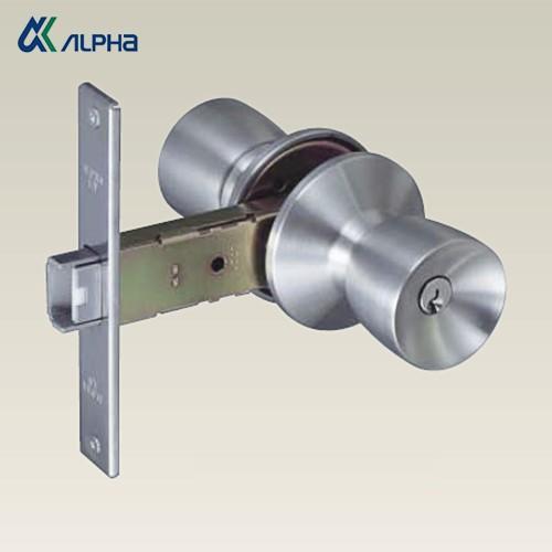 ALPHA アルファ 万能 インテグラル錠 ALPHA LV  ドアノブ 玉座 バックセット100mm 33M05-TRW-32D-100-ALU