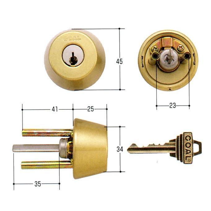 GOAL ゴール 標準ピンシリンダー ADタイプ 鍵 交換 取替えGCY-98 AD/GK/TDD