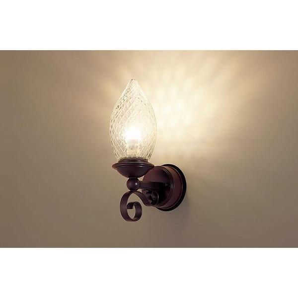 パナソニック ポーチライト ダークブラウン LED(電球色) LGW85025Z