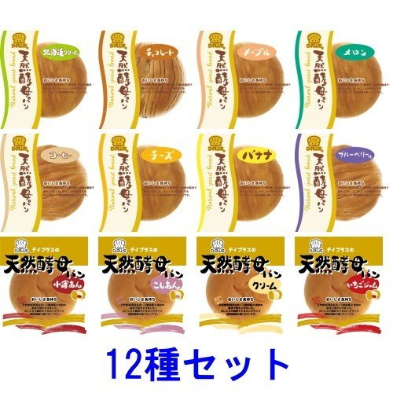 デイプラス 天然酵母パン 12種セット ロングライフパン  『送料無料(沖縄・離島除く)』
