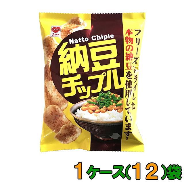 リスカ 納豆チップル 48g 1ケース(12袋)『送料無料(沖縄・離島除く)』