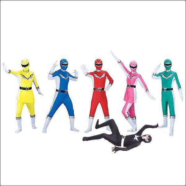 コスチューム セットでお得 パーティーレンジャー5色とブラックジョーカー / コスプレ 仮装 ハロウィン