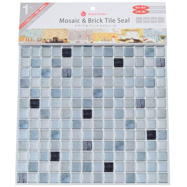 モザイクタイルシール BST-4 ×144個 ケース販売 モノクロ Mono chrome Dream Sticker