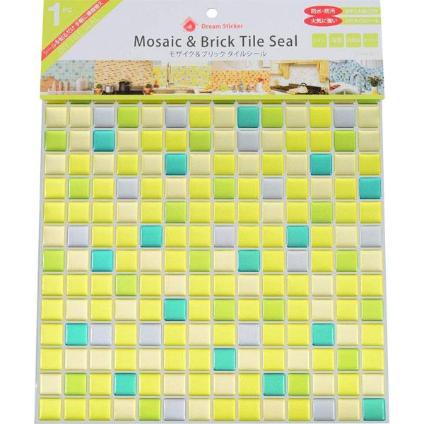 モザイクタイルシール BST-5 ×36個 小箱 フレッシュグリーン Fresh green Dream Sticker