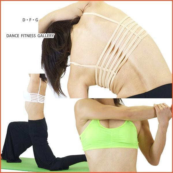 トップス デザインブラトップ ヨガウェア フィットネスウエア シャーリング べリーダンス ダンス NA53319|e-dance-fitness|03