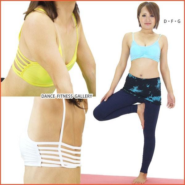 トップス デザインブラトップ ヨガウェア フィットネスウエア シャーリング べリーダンス ダンス NA53319|e-dance-fitness|04