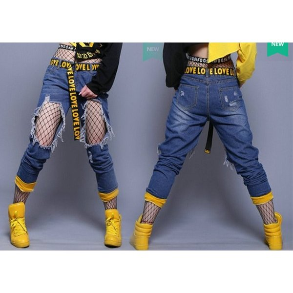 ロングパンツ ジャズダンス レディース ファッション ストリートダンス お買い得 ダンス衣装 ボリュームたっぷり 派手 ダンス衣装