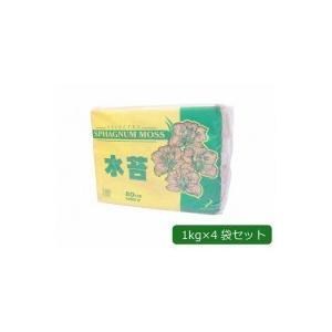 (★直送便)【包装・熨斗対応不可商品】(代引不可)あかぎ園芸 ニュージーランド産 水苔 1kg×4袋