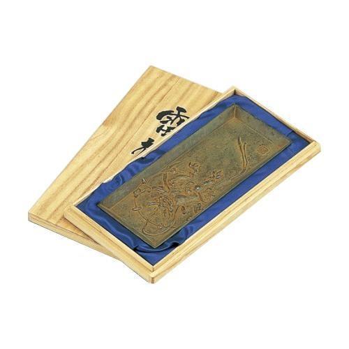(★直送便)高岡銅器 (★直送便)高岡銅器 銅製小物 名取川雅司作 ペン皿 雷神 55-05