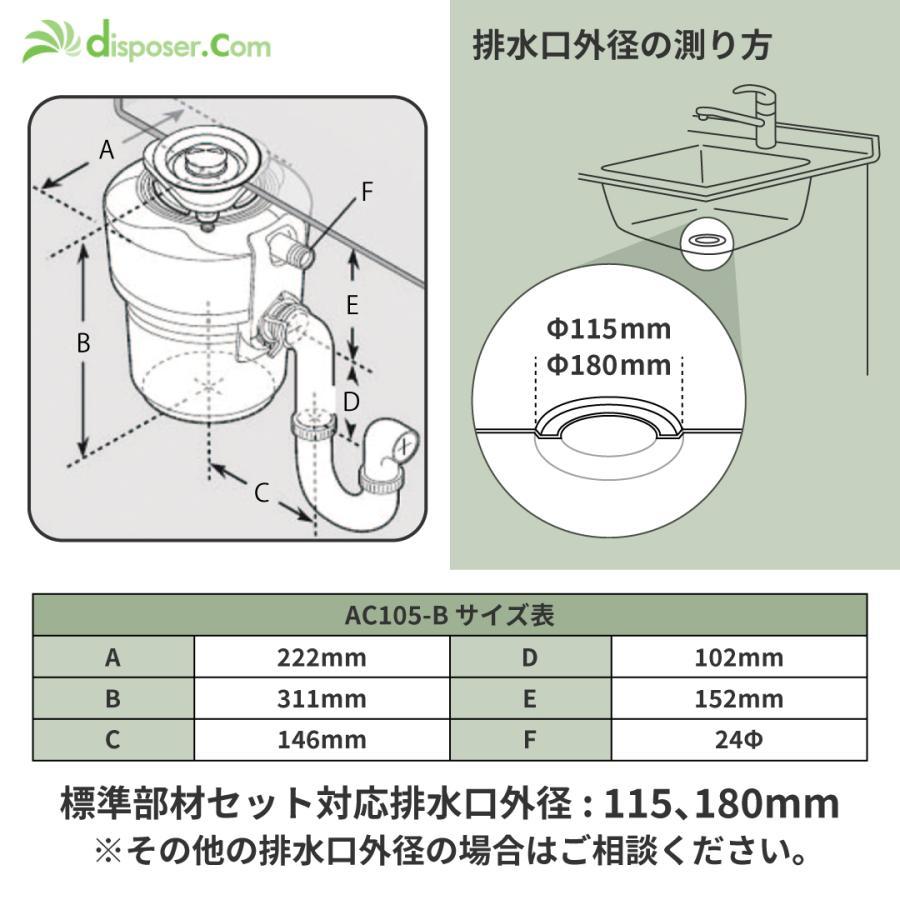 モデルAC105(emerson社製)|e-disposer|04