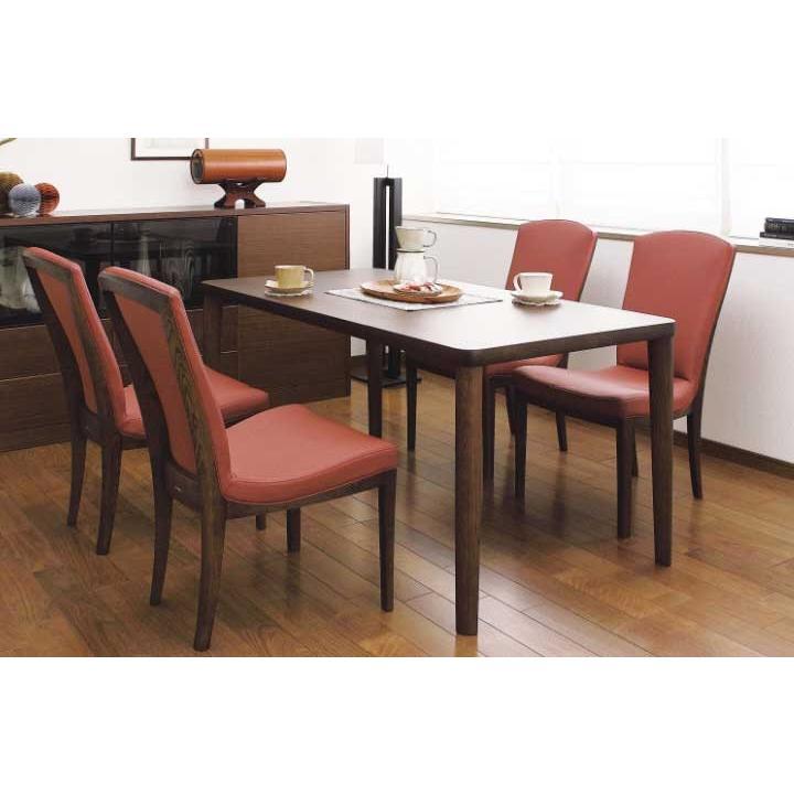 カリモク CT7905 DU5320 食堂椅子 食卓5点セット ダイニングセット 合成皮革 ダイニングテーブル ナチュラルモダン 日本製家具 正規取扱店