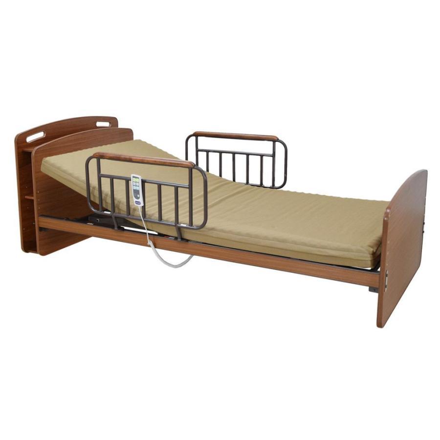 アンネルベッド CYセラピアCT 2モーター キャビネット棚付 シングル 電動ベッド 電動リクライニング 手すり付き 介護 フラット