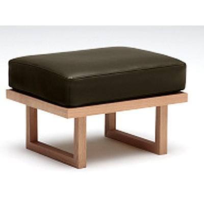 カリモクWU47モデル WU4706 1P椅子 一人掛け椅子 スツール オットマン 本革張り 和風 和モダン 日本製家具