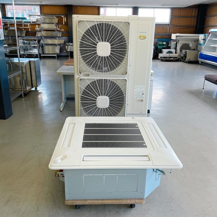 エアコン(天カセ型)5馬力 日立 内機 RCI-GP140K2 外機 RAS-AP140GH3 中古|e-gekiyasu