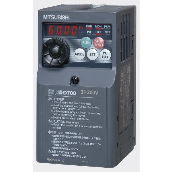 即日出荷対応 三菱電機 FR-D720-0.4K 三相200Vインバーター 0.4KW