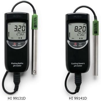 ハンナインスツルメンツ HI 99131D メッキ槽用ポータブルpH計 温度測定可能
