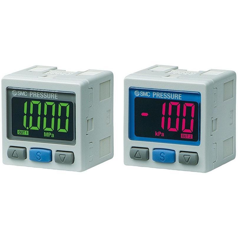 SMC ISE30A-01-N-MLBK 2色表示式高精度デジタル圧力スイッチ 正圧用