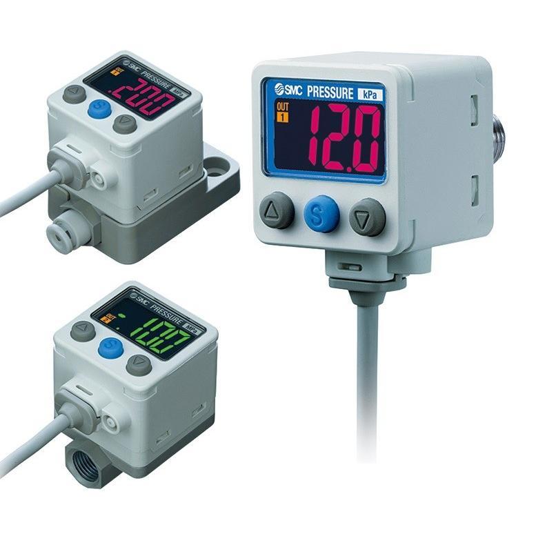 SMC ISE40A-W1-X-MB-X501 2色表示式高精度デジタル圧力スイッチ 正圧用