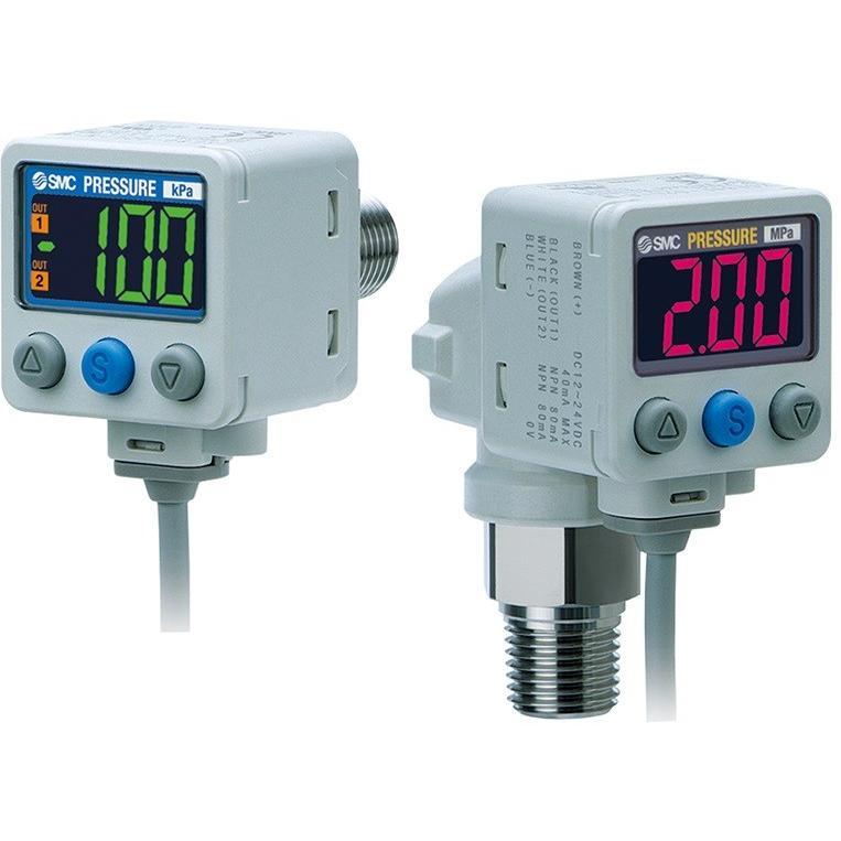 SMC ISE80-02-A-C 2色表示式デジタル圧力スイッチ 正圧用