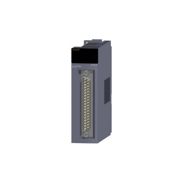 三菱電機 QY81P トランジスタ出力ユニット 出力:32点 DC12〜24V 0.1A/1点,2A/1コモン 応答時間:1ms 32点1コモン ソースタイプ 37ピンDサブコネクタ