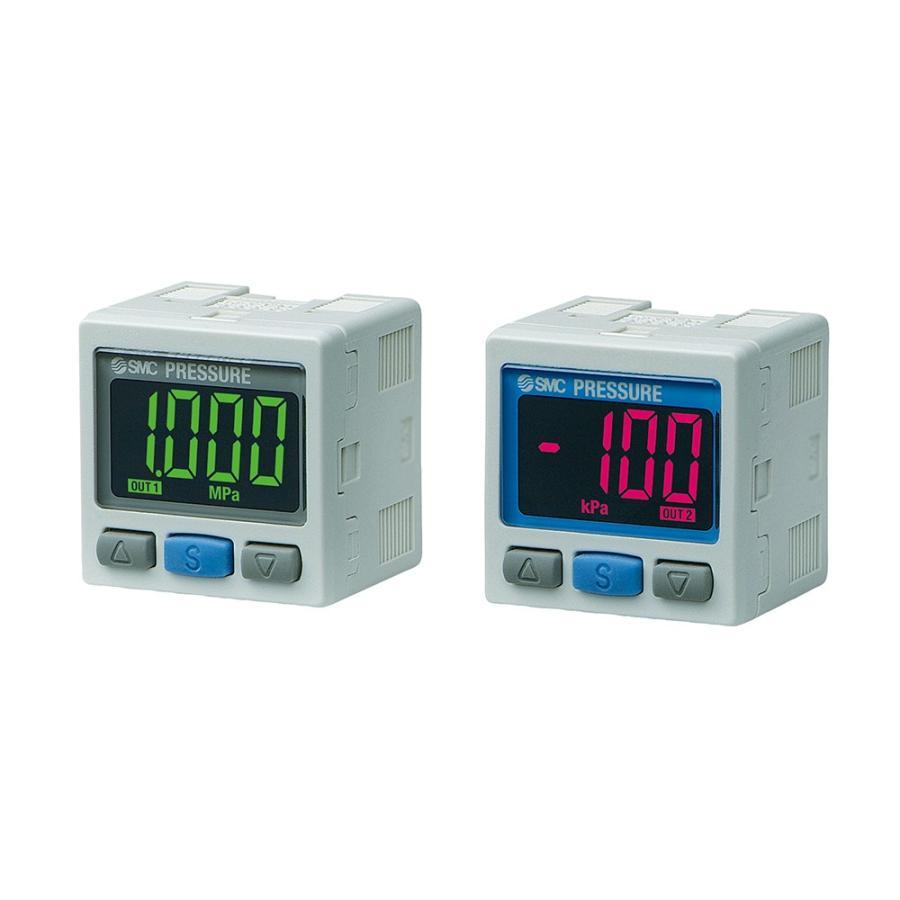 SMC ZSE30A-C6L-N-MGK 2色表示式高精度デジタル圧力スイッチ 真空圧用