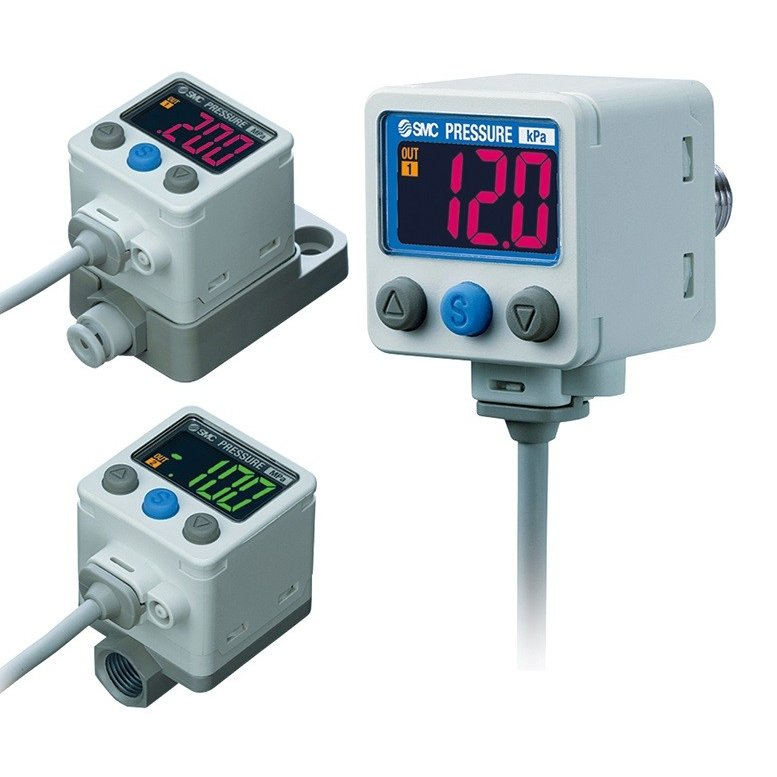 SMC ZSE40AF-WF1-T-F 2色表示式高精度デジタル圧力スイッチ 連成圧用