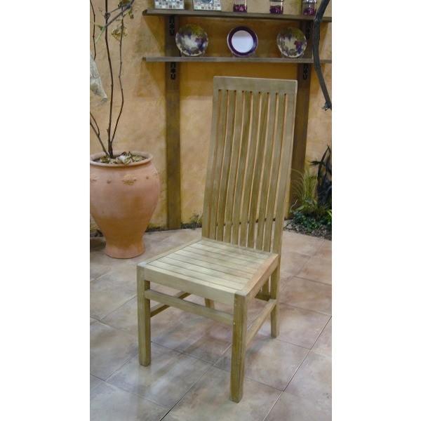 ガーデンチェア ベランダ椅子 木製ガーデン家具 ハイバックチェア チーク材 ベランダ椅子 完成品