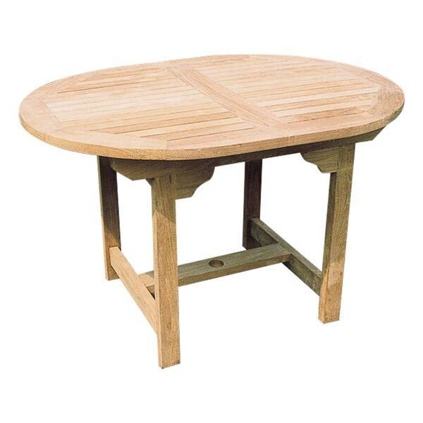 ガーデンテーブル カフェテーブル 木製ガーデン家具エクステンションテーブル 天然木 チーク材 ガーデニングテーブル 完成品