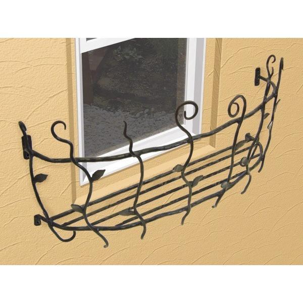 フラワーボックス 壁飾り ロートアイアンフラワーボックス(幅535mm)オリジナル 壁飾り  窓手すり  エクステリア 防犯