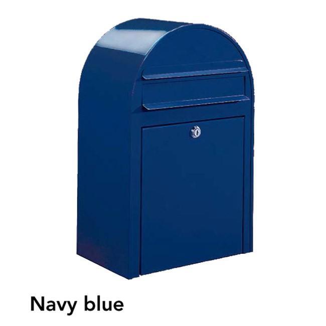 ポスト 郵便受け 壁掛け郵便ポスト デザインポスト ボビ ネイビーブルー 前入れ前出し 鍵付き スタンド対応可 集合住宅対応
