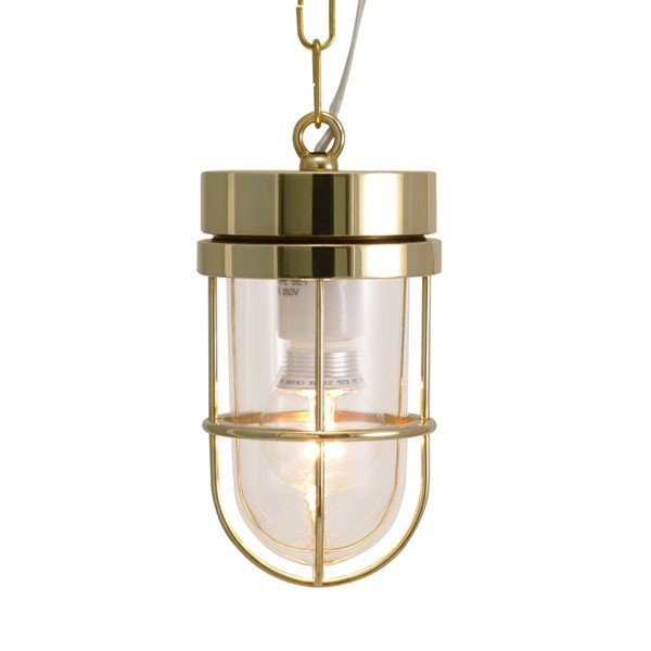 屋外照明 玄関 照明 軒下 外灯 屋外対応 LED マリンランプ マリンライト ペンダントライトP6000 CL LE 真鍮磨き ガーデンライト真鍮製 照明器具