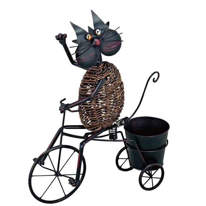 プランタースタンド フラワースタンド オブジェ アイアン アニマルポット 85672 50×60×15cm 植木鉢 ガーデニング